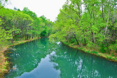 The blue river Stock Photography