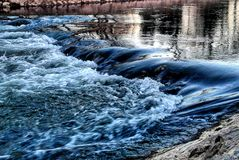 Blue river. River, skyblue, nature royalty free stock photography