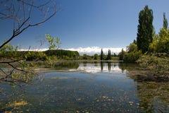 Blue river Stock Photo