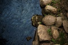 Free Blue River Water And Rock Shore Background Stock Photo - 157835940