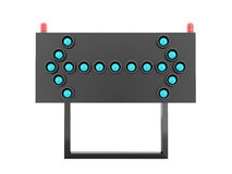 Blue road barrier arrows Stock Image