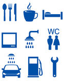 Blue road icons Stock Photography