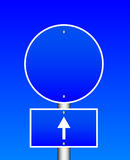 Blue road sign Royalty Free Stock Images