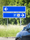 Blue road sign Stock Images