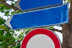 Blue road sign Royalty Free Stock Image