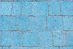 Blue road tile in a city park.  View from above. Background stock image