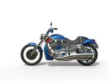 Blue Roadster Bike - Side View Stock Photography