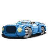 Blue roadster Royalty Free Stock Image