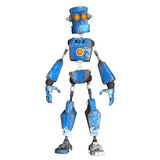 Blue Robot . 4 Stock Images