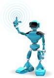 1 blue robot Fotografia Royalty Free