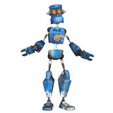 Blue Robot . 5 Royalty Free Stock Images
