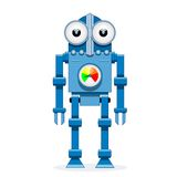 Blue robot Stock Images