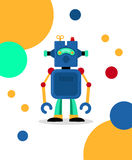 Blue robot card Stock Images