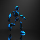 Blue robot character Royalty Free Stock Photos