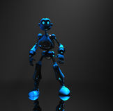Blue robot character Stock Photo