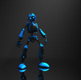 Blue robot character Stock Photos