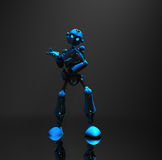 Blue robot character Royalty Free Stock Images