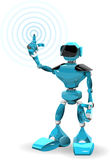 Blue Robot Royalty Free Stock Photography