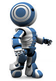 blue robot white Obraz Stock