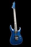 Blue rock guitar Stock Images