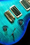 Blue rock guitar isolated