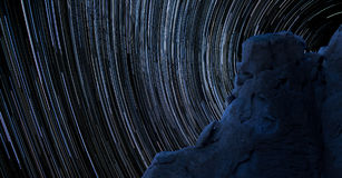 Blue Rock Star Trails Royalty Free Stock Photos