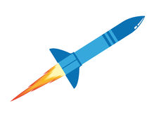 Blue rocket. Big blue rocket on a white background vector illustration
