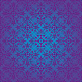Blue rococo seamless pattern Royalty Free Stock Images