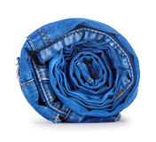 Blue roll jeans Royalty Free Stock Images