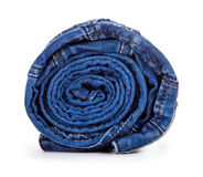 Blue roll jeans Stock Image