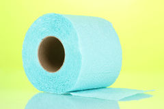 Blue roll of toilet paper Royalty Free Stock Photos