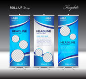 Blue Roll Up Banner template vector illustration Stock Photo