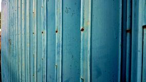 Blue roll up door horizontal side store security Royalty Free Stock Images