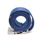 Blue rolled belt Stock Photos