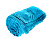 Blue rolled towel Stock Image