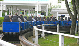 Blue Roller Coaster Royalty Free Stock Photography