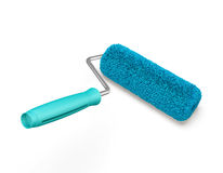 Blue roller for painting. 3d. Blue roller for painting on a white background. 3d rendering Royalty Free Stock Images