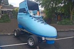 Blue Roller Skate Car Royalty Free Stock Photo