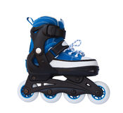 Blue roller skates Stock Images