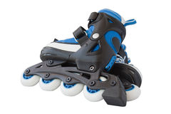 Blue roller skates Stock Photo