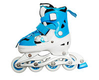 Blue Roller Skates Royalty Free Stock Images