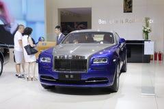Blue rolls royce wraith sedan Royalty Free Stock Images
