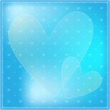 Blue romantic heart background Royalty Free Stock Photos