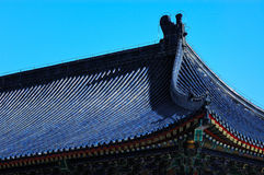 Blue roof Stock Image