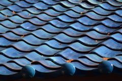 A blue roof. Royalty Free Stock Images