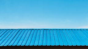 Blue roof of house Royalty Free Stock Images