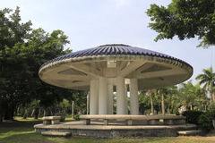 Blue roof round pavilion Royalty Free Stock Photos