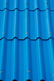 Blue roof texture background. Stock Images