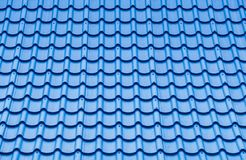 Blue roof tile pattern. Royalty Free Stock Photography