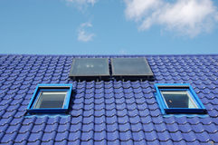 Blue roof tiles Stock Photos